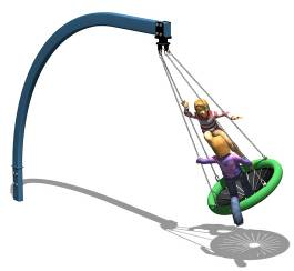 Cantilever Swing with basket
