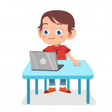 Image of a boy with a laptop